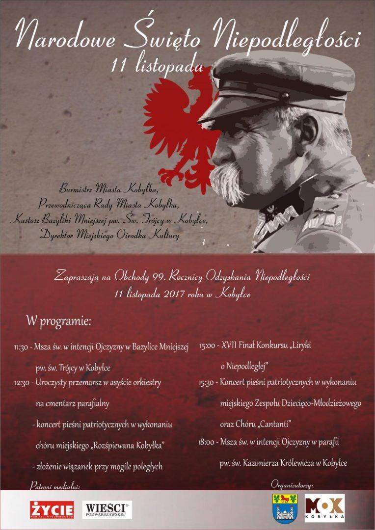 Obchody 99 Rocznicy Odzyskania Niepodległości 11 Listopada